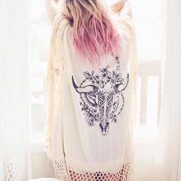 Spell & the Gypsy Collective Indian Summer Tassel Kimono
