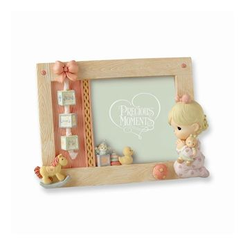 Precious Moments Pink Praying Girl Photo Frame