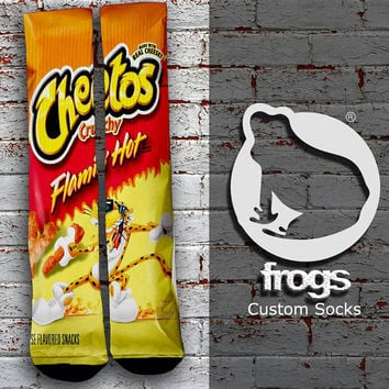 Hot Cheetos Elite Socks, Custom socks, Personalized socks