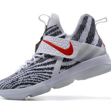 Spring Summer 2018 New Nike Lebron 14 XIV Zebra Striped University Red Brand sneaker