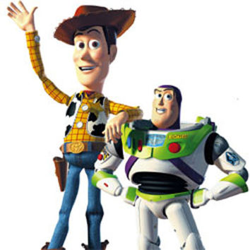 Disney Toy Story Woody Buzz 4Pc Wall Accent Decal Stickers