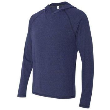 Yoga Clothing for You Mens TriBlend Navy Lightweight Hoody