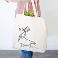 George - Dapper Dachshund - Tote Bag
