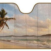 Auto Expressions 804241 Vintage Surf Sunshade Accordion Style, Jumbo Size