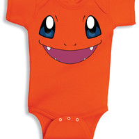 Inspired by Charmander face Pokemon Onesuit new born to 24 months sizes very cute baby youth