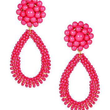 Kate Earrings in Miss Pink