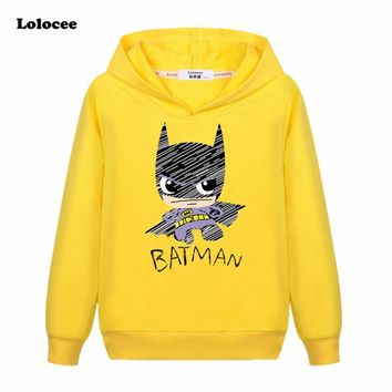 Batman Dark Knight gift Christmas Toddler Kids Batman Fans Superhero Hoodie T-shirt Boys Graphic Long Sleeve 100% Cotton Hooded Tee Children Basic Coat 3-13y AT_71_6