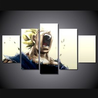 Canvas Printed Carton Hd Vegeta Dragon Ball Z Super Saiyan Painting Home Decorative Wall Picture Cuadros Decoracio Free Shipping