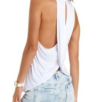 Cross-Back High-Neck Muscle Tee by Charlotte Russe