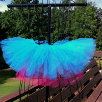 Hadley Tutu - Turquoise and Fuchsia Tutu - Neon Tutu - Available in Infant, Toddlers, Girls, Teenager and Adult Sizes