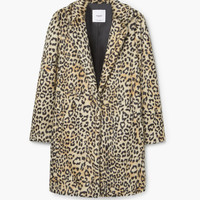 Leopard faux-fur coat - Coats for Woman | MANGO USA