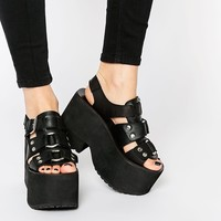 UNIF Bound Platform Sandals at asos.com
