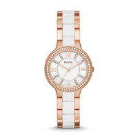 Virginia Three-Hand Stainless Steel and Nylon Watch – Rose Gold-Tone