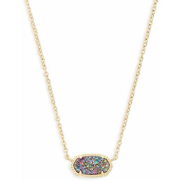 Kendra Scott: Elisa Pendant Necklace In Multi Color Drusy