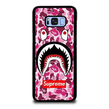 SUPREME BAPE CAMO SHARK Samsung Galaxy S8 Plus Case Cover
