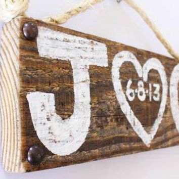 Personalized Wedding Sign Wood Custom Wedding Decor Beach Wedding Outdoor Country Wedding Reception Vintage Wedding Photo Prop Bridal Shower