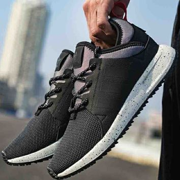 ADIDAS NMD clover 2018 men and women comfortable sports running shoes F-CSXY black