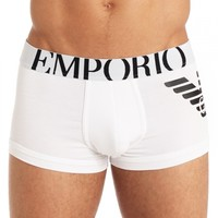 Emporio Armani Eagle Stretch Cotton Parigamba Trunk 111866-CC725 - Free Shipping at Freshpair.com