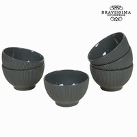 Grey bowl set 6 - Kitchen's Deco Collection by Bravissima Kitchen