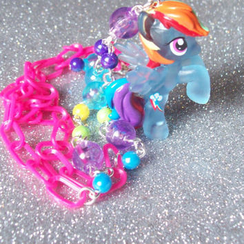 Neon Rainbow Dash Necklace