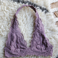 Amore Halter Bralette, Dusty Purple