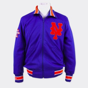 New York Mets 1986 Authentic Bp Jacket Mitchell & Ness - Beauty Ticks