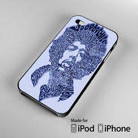 Jimi Hendrix Song Titles Collage iPhone 4 4S 5 5S 5C 6, iPod Touch 4 5 Cases