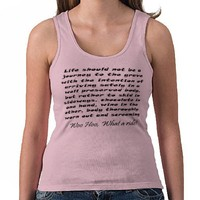 Womens funny gifts pink tanktop bulk discount gift from Zazzle.com