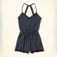 Girls Lace-Trim Knit Romper | Girls New Arrivals | HollisterCo.com