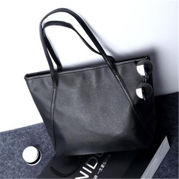 NIBESSER Simple Women Shoulder Bags PU Leather Large Capacity Casual Tote Handbags For Women 2017 Shopper Bag bolsas feminina