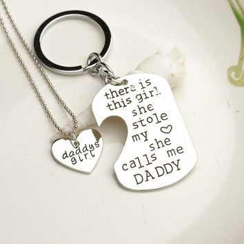 2 PC Daddy's Girl Necklace Set