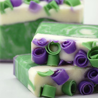Blackberry Sage Soap Handmade Cold Process, Vegan Friendly