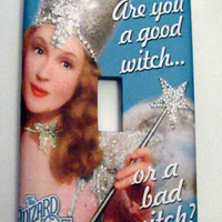 Light Switch Cover - Light Switch Plate Wizard of Oz Good Witch Bad Witch