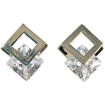 Cubic Zirconia Earrings 20mm x 15mm