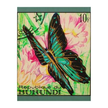 Butterfly Papilio Bromius Wood Wall Decor