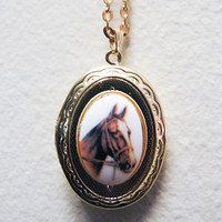 My Lovely Horse Locket by ephemeralpillages on Etsy