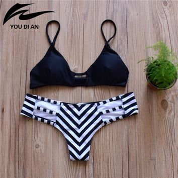 2016 New Bandage Bikini Set Brazilian Summer Beach Wear Reversible Swimsuit Sexy Swimwear Women Swimsuit Bathing Suit Bikini