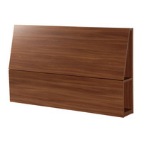 OPPDAL Headboard with storage compartment - medium brown, Full/Double - IKEA
