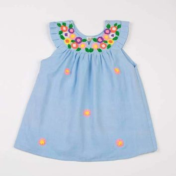 AKSHU & ING BABY BLUE DAISY DRESS