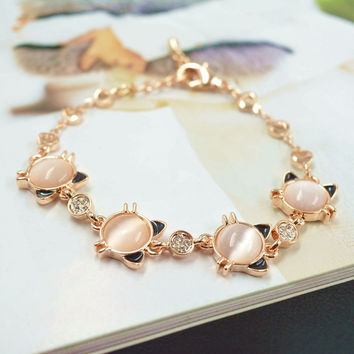 Gift New Arrival Great Deal Stylish Shiny Hot Sale Awesome Fashion Lovely Cats Accessory Ladies Bracelet [10417740628]