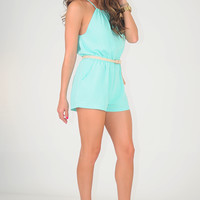 Love Me Tender Romper: Mint