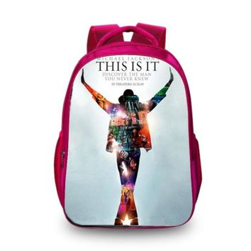 Cool Backpack school BAOBEIKU New 3D Backpacks Michael Jackson Style Fashion Printing Cool Bags For Kids Childrens School Laptop Kids Travel Backpack AT_52_3
