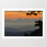 """""""Sunset at the mountains II"""" Art Print by Guido Montañés"""