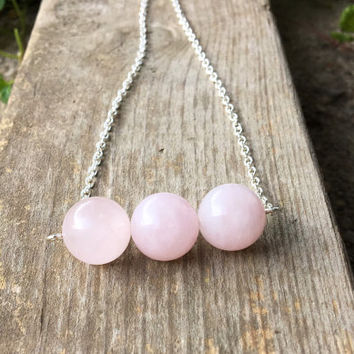 Rose Quartz necklace, Rose Quartz crystal, gemstone necklace, pink stone necklace, healing stone necklace, chakra, bohemian necklace