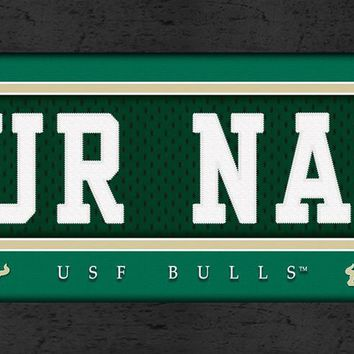 USF Bulls | Jersey Stitch | Personalized | Nameplate Print | Framed