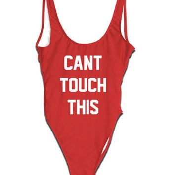 Can't Touch This Monokini - Women's Swimsuit Bathing Suit