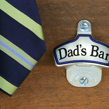 Personalized Father's Day Gift, Wall Mount Bottle Opener - Custom Gift for Dad