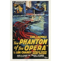 The Phantom of the Opera Poster Movie B 11x17 Lon Chaney Sr. Norman Kerry Mary Philbin MasterPoster Print, 11x17