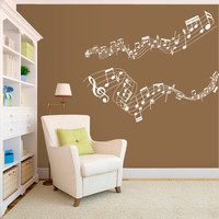 Wall Decal Vinyl Sticker Decals Art Decor Design Music Songs Sound Notes Melody Live Jazz Living Room Dorm Instruments Live Bedroom (r509)