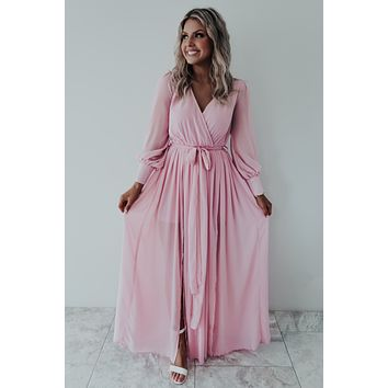 Simply Adore You Maxi: Dusty Pink